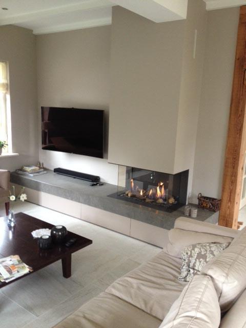 Stunning gesloten gashaard met compleet meubel with for Compleet interieur woonkamer