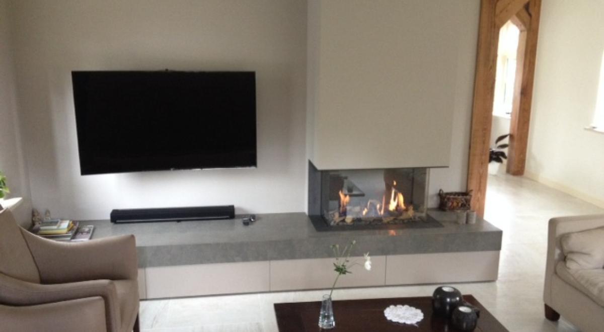 Interesting gesloten gashaard met compleet meubel with for Compleet interieur woonkamer